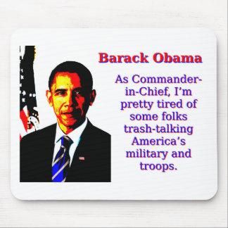 Mousepad Como o comandante-chefe - Barack Obama
