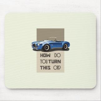 Mousepad Como você gira este no carro azul da cobra