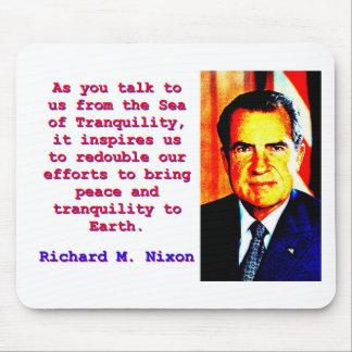Mousepad Como você nos fala - Richard Nixon