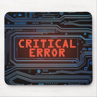 Mousepad Conceito do erro crítico