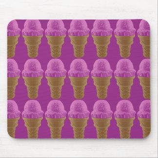Mousepad Cone do sorvete da morango do pop art