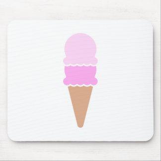 Mousepad Cone dobro do sorvete da colher - rosa