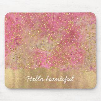 Mousepad Confetes cor-de-rosa da aguarela dos confetes do
