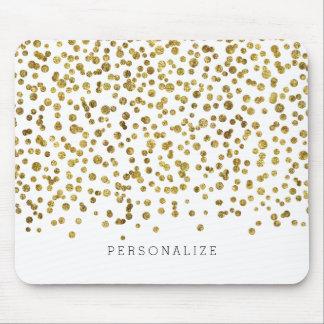 Mousepad Confetes do encanto do ouro