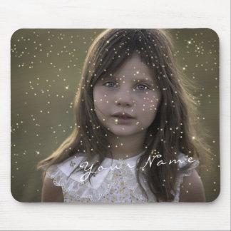 Mousepad Confetes dourados dourados da foto feita sob