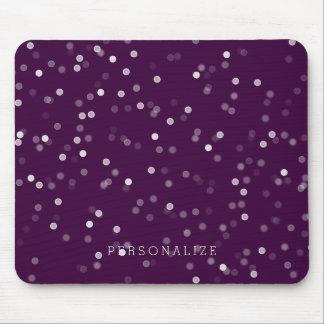Mousepad Confetes roxos e brancos de Bokeh