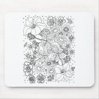 Mousepad Conglomeração das flores