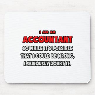 Mousepad Contador engraçado. Duvide-o