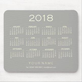 Mousepad Contato conhecido cinzento branco Numer do