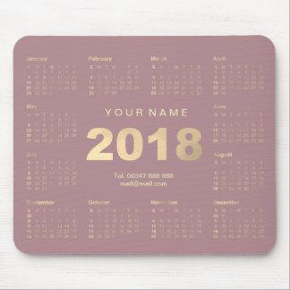 Mousepad Contato cor-de-rosa malva Numer do nome do ouro do