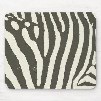 Mousepad Contemporâneo moderno do impressão macio da zebra