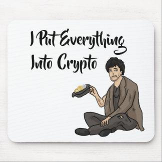 Mousepad Conto preventivo da moeda cripto