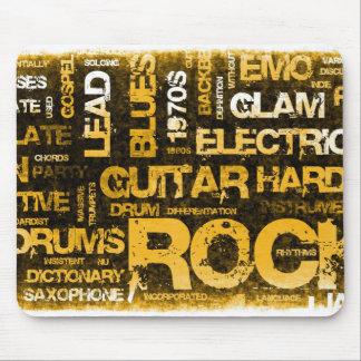 Mousepad Convite de festas da música rock como a arte do