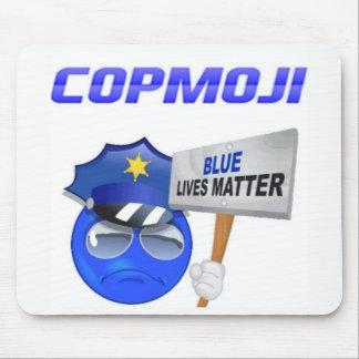 Mousepad CopMoji - tapete do rato azul da matéria das vidas