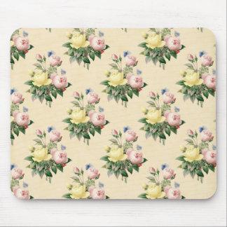 Mousepad cor-de-rosa do teste padrão de flor do