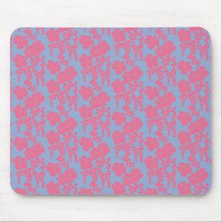 Mousepad cor-de-rosa & roxo do impressão floral