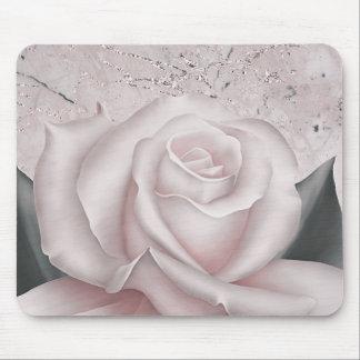 Mousepad Cora o chique de mármore moderno Glam do rosa