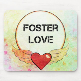 Mousepad Coração adoptivo da aguarela do amor