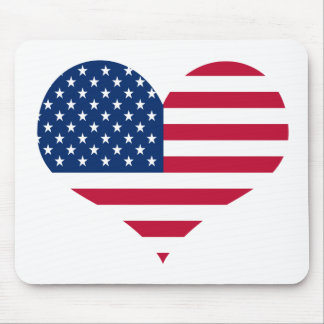 Mousepad Coração americano dos EUA da bandeira de América
