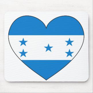 Mousepad Coração da bandeira de Honduras