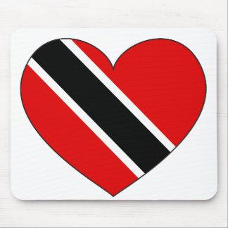 Mousepad Coração da bandeira de Trinidad and Tobago
