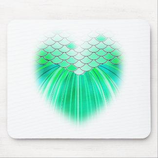 Mousepad Coração da sereia com arte da escala