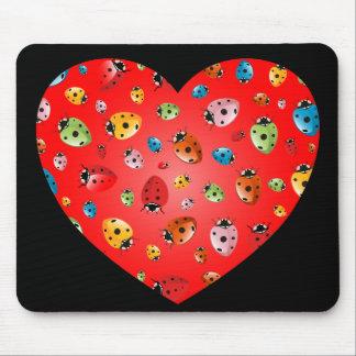 Mousepad Coração das joaninha