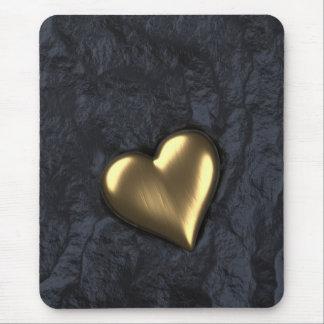 Mousepad Coração de ouro