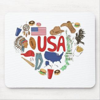 Mousepad Coração EUA