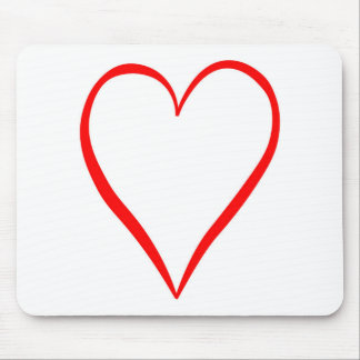 Mousepad Coração pintado em pano de fundo branco