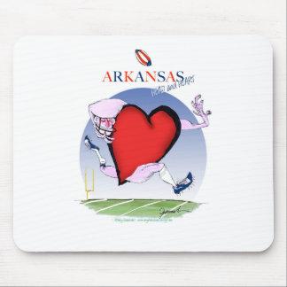 Mousepad coração principal de arkansas, fernandes tony