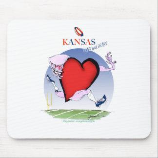 Mousepad coração principal de kansas, fernandes tony