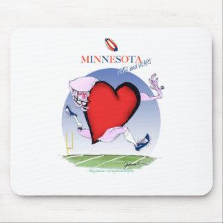 Mousepad coração principal de minnesota, fernandes tony
