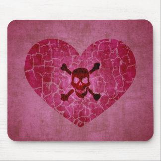 Mousepad Coração quebrado do Grunge gótico