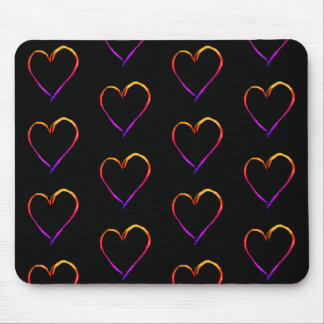 Mousepad Corações coloridos
