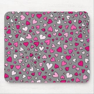 Mousepad Corações dispersados