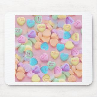 Mousepad corações dos doces dos namorados