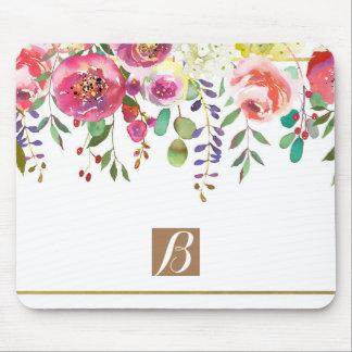 Mousepad Corajoso colorido moderno das flores florais da