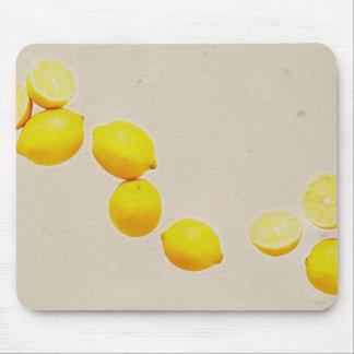 Mousepad Corda dos limões no fundo do vintage