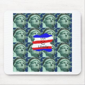 Mousepad Cores da bandeira dos EUA com estátua da liberdade