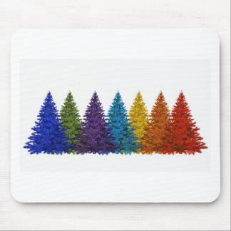 Mousepad Cores das árvores de Natal