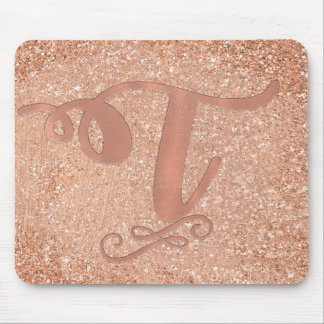 Mousepad Costume conhecido inicial Glam da letra T do ouro