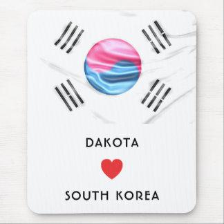 Mousepad Costume mim bandeira do coração de Coreia do Sul