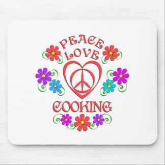 Mousepad Cozinhar do amor da paz
