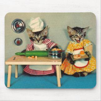 Mousepad cozinheiro chefe do gatinho do gato malhado e