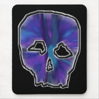 Mousepad Crânio azul e roxo