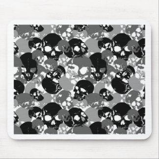 Mousepad Crânio Black&White