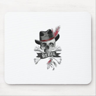 Mousepad Crânio gótico do estilo tribal com gráfico da