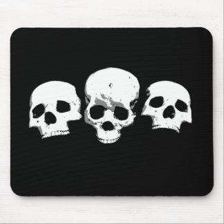 Mousepad Crânios assustadores assustadores o Dia das Bruxas