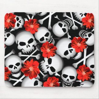 Mousepad Crânios e flores